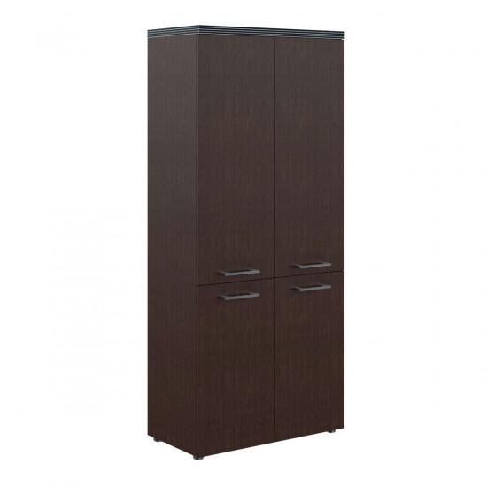 Шкаф высокий Torr ТHС85.3, закрытый, 4 двери, 856*450*1968, Венге Магия, ТHC85+ТMD42-2+ТLD42-2+TP85