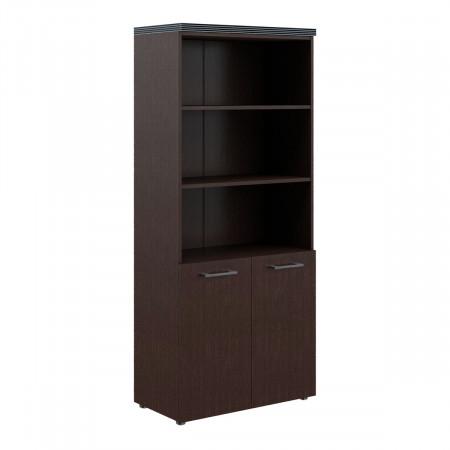 Шкаф высокий Torr ТHС85.5, 3 открытые полки, 2 двери, 856*450*1968, Венге Магия, ТHC85+ТLD42-2+TP85