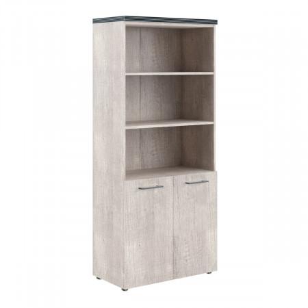 Шкаф высокий Torr ТHС85.5, 3 открытые полки, 2 двери, 856*450*1968, Дуб Каньон, ТHC85+ТLD42-2+TP85