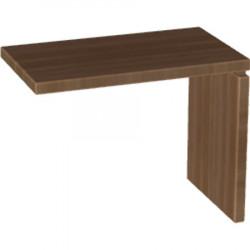 Стол приставной Милан МЛ-1.6, боковой, 950*550*760, орех табак