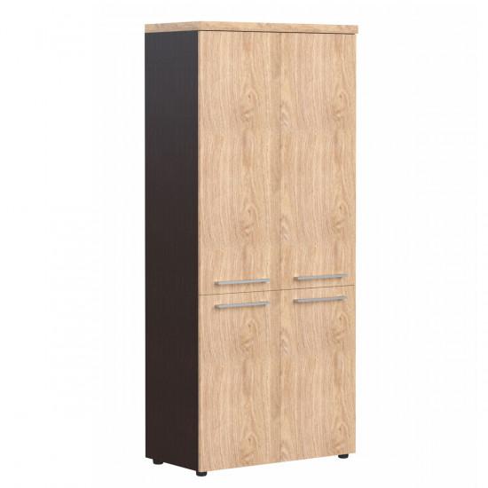 Шкаф высокий Alto АНС85.3, закрытый, 4 двери, 850*430*1969, Дуб Девон/Венге, AНС85+AMD42-2+ALD42-2