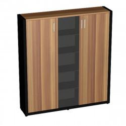 Шкаф комбинированный Верона Вр-2.0, 1816*400*1620, Слива Валлис/Черный