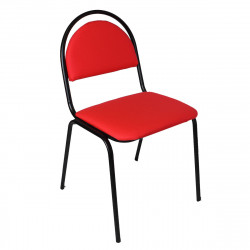 Стул офисный Стандарт ткань красная ТК-12, каркас муар