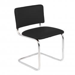 Конференц-кресло Silwia V-4 кожзам черный, каркас хром