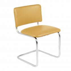 Конференц-кресло Silwia V-17 кожзам бежевый, каркас хром