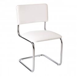 Конференц-кресло Silwia V-01 кожзам белый, каркас хром
