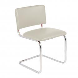 Конференц-кресло Silwia V-18 кожзам топленое молоко, каркас хром