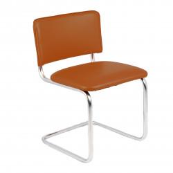Конференц-кресло Silwia V-19 кожзам коричневый, каркас хром