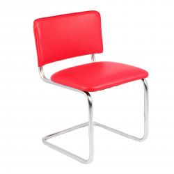 Конференц-кресло Silwia V-27 кожзам красный, каркас хром