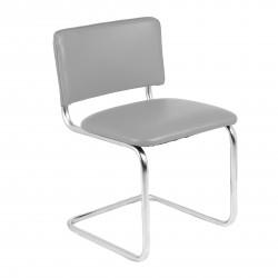 Конференц-кресло Silwia V-28 кожзам серый, каркас хром