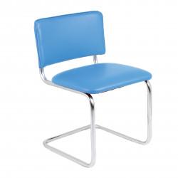 Конференц-кресло Silwia V-15 кожзам синий, каркас хром