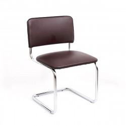 Конференц-кресло Silwia V-03 кожзам темно-коричневый, каркас хром