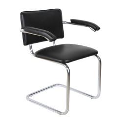 Конференц-кресло Silwia Аrm V-4 кожзам черный, каркас хром