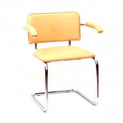 Конференц-кресло Silwia Аrm V-17 кожзам бежевый, каркас хром