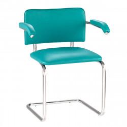 Конференц-кресло Silwia Аrm V-20 кожзам бирюзовый, каркас хром