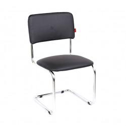 Конференц-кресло Сильвия Орегон №16 кожзам черный, каркас хром