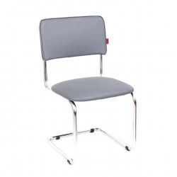 Конференц-кресло Сильвия Орегон №17 кожзам серый, каркас хром