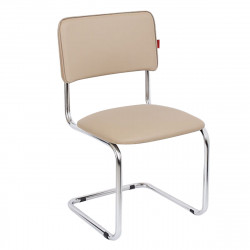 Конференц-кресло Сильвия Орегон №02 кожзам темно-бежевый, каркас хром