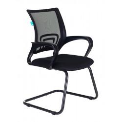 Конференц-кресло CH-695N-AV,B,TW-11, спинка сетка черная TW-01, сидушка ткань черная TW-11