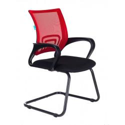 Конференц-кресло CH-695N-AV,R,TW-11, спинка сетка красная TW-35N, сидушка ткань черная TW-11