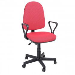 Кресло офисное Престиж Profi В-09 Самба ткань красная в рубчик