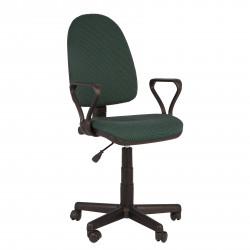 Кресло офисное Престиж В-21 Самба ткань зеленая в рубчик