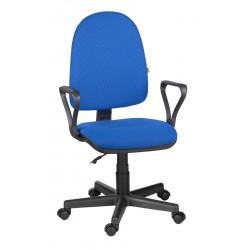 Кресло офисное Престиж В-12 Самба ткань синяя в рубчик