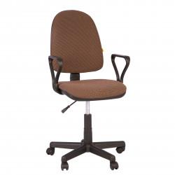 Кресло офисное Престиж В-28 Самба ткань коричневая в рубчик