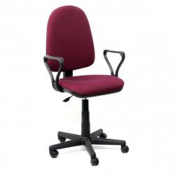 Кресло офисное Престиж В-20 Самба ткань бордовая в рубчик