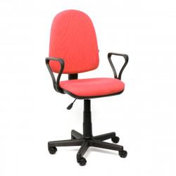 Кресло офисное Престиж В-07 Самба ткань красная