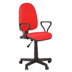 Кресло офисное Престиж В-09 Самба ткань красная в рубчик