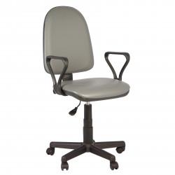 Кресло офисное Престиж Самба кожзам серый