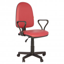 Кресло офисное Престиж Самба кожзам бордовый