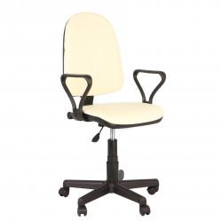 Кресло офисное Престиж Самба кожзам бежевый
