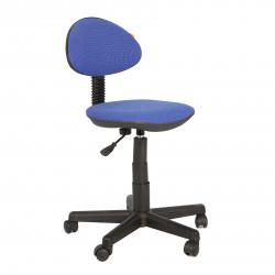 Кресло компьютерное детское Логика gts В-12 ткань синяя в рубчик (б/п)