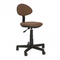 Кресло компьютерное детское Логика gts В-28 ткань коричневая в рубчик (б/п)