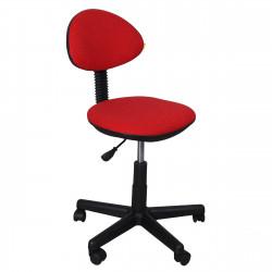 Кресло компьютерное детское Логика gts В-09 ткань красная в рубчик (б/п)