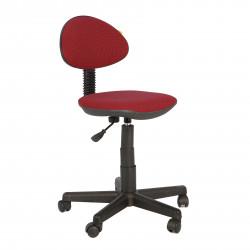 Кресло компьютерное детское Логика gts В-20 ткань бордовая в рубчик (б/п)