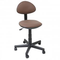 Кресло компьютерное детское Логика gts кожзам коричневый (б/п)
