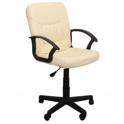 Кресло руководителя Чип кожзам бежевый (ультра)