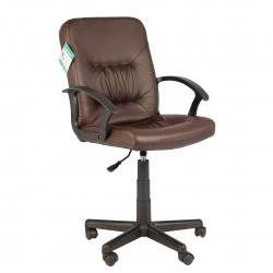 Кресло руководителя Чип кожзам коричневый (ультра)