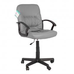 Кресло руководителя Чип кожзам серый (ультра)