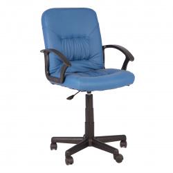 Кресло руководителя Чип кожзам синий (ультра)