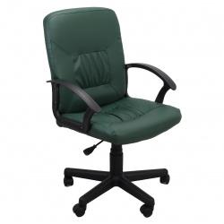 Кресло руководителя Чип кожзам зеленый (ультра)