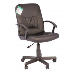 Кресло руководителя Чип кожзам черный (ультра)