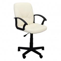 Кресло руководителя Чип 365 кожзам бежевый (ультра)