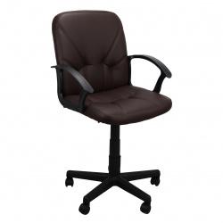 Кресло руководителя Чип 365 кожзам коричневый (ультра)