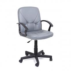 Кресло руководителя Чип 365 кожзам серый (ультра)