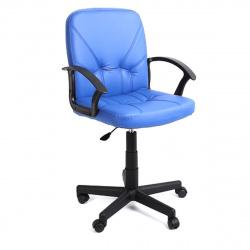 Кресло руководителя Чип 365 кожзам синий (ультра)