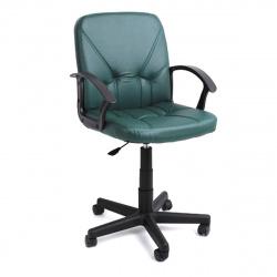 Кресло руководителя Чип 365 кожзам зеленый (ультра)